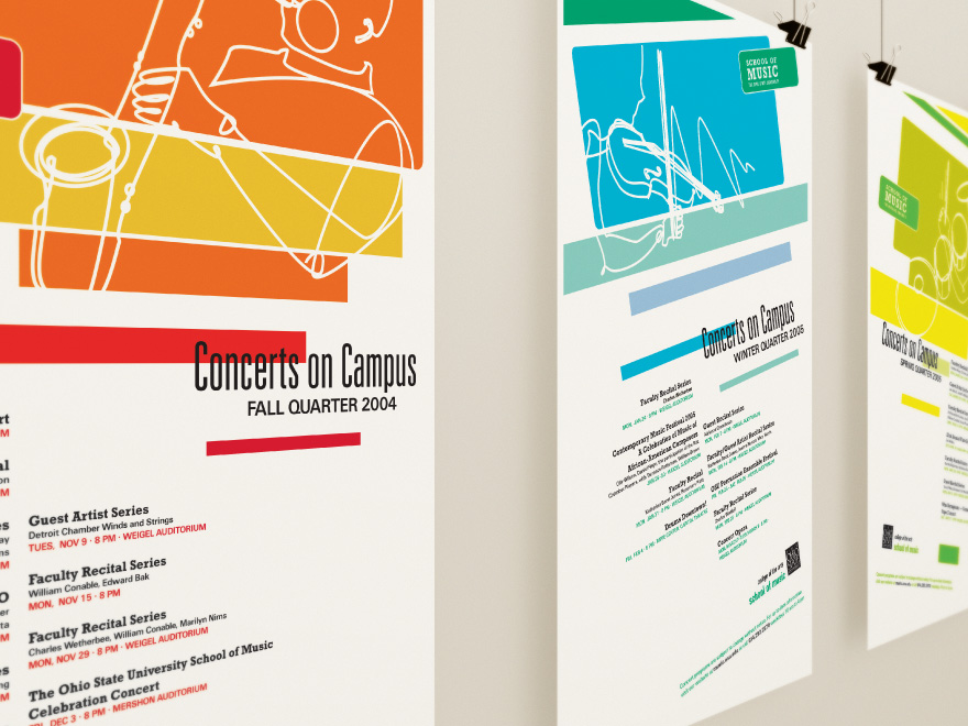 concert on campus poster series darwin m 巫政龍